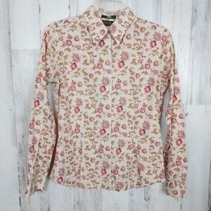 🌿Eddie Bauer Floral Button Down Wrinkle Resistant